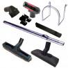 Kit 8 accessoires  tube chrome aspirateur