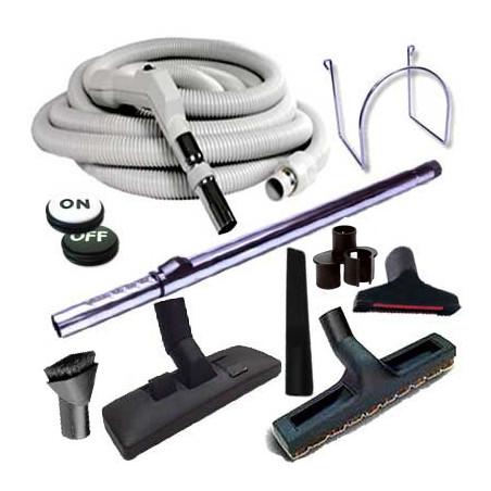 Aspiration centralisée, brosses, flexibles et accessoires